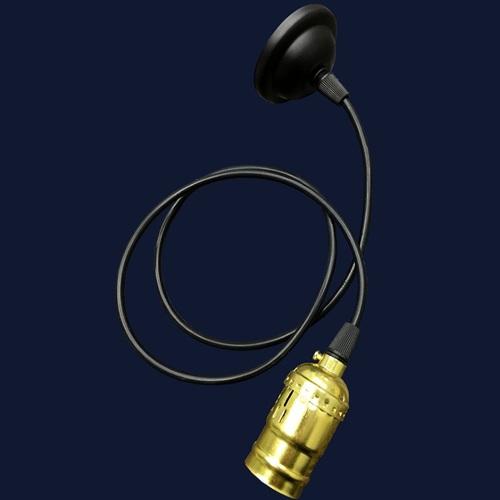 Лампа ретро шнур AMP33003-1 черная без лампочки Thexata