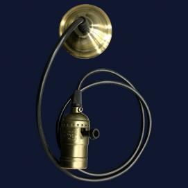 Лампа ретро шнур AMP34002-1 черная без лампочки Thexata