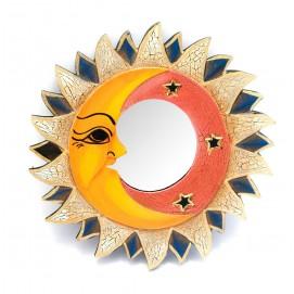 """Зеркало мозаичное """"Солнце и Луна"""" (d-20,5 cм) цветное"""