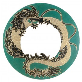"Зеркало мозаичное ""Дракон"" (d-40 cм) зеленое"