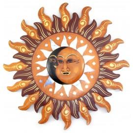 """Зеркало мозаичное """"Луна и Солнце"""" (d-40 cм) цветное 30166"""