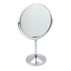 Зеркальце круглое настольное металл 25004
