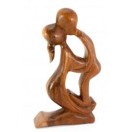 """Статуэтка """"Влюбленные"""" дерево коричневая 29860"""
