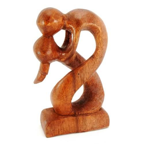 """Статуэтка """"Влюбленные"""" дерево коричневая 29864"""
