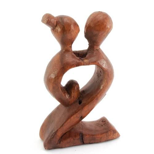 """Статуэтка """"Влюбленные"""" дерево коричневая 29864A"""