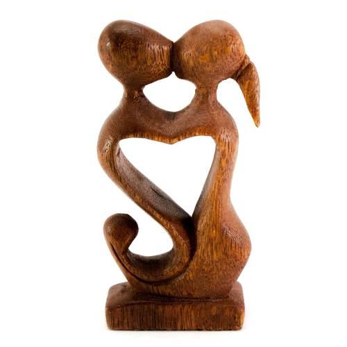 """Статуэтка """"Влюбленные"""" дерево коричневая 29920"""