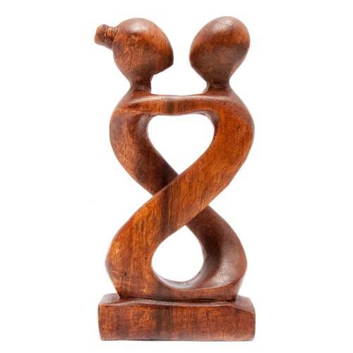 """Статуэтка """"Влюбленные"""" дерево коричневая 29625"""