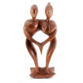 """Статуэтка """"Влюбленные"""" дерево коричневая 30232"""