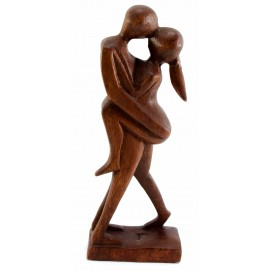 """Статуэтка """"Влюбленные"""" дерево коричневая 30241"""