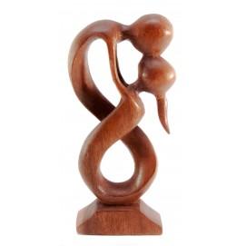 """Статуэтка """"Влюбленные"""" дерево коричневая 29380"""