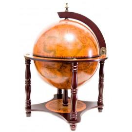 Глобус бар на 4 ножках (42х42х57 см) коричневый 23795