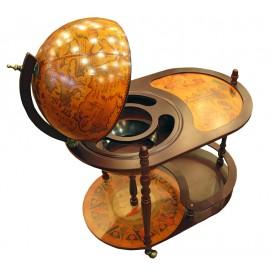 Глобус бар со столиком на колёсах (81*51*91) коричневый 19308