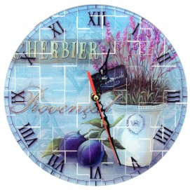"""Часы настенные """"Лаванда"""" стекло(d-25 см) цветные 29553C"""