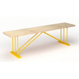 Лавка E101 натуральная ноги желтые Craftmart