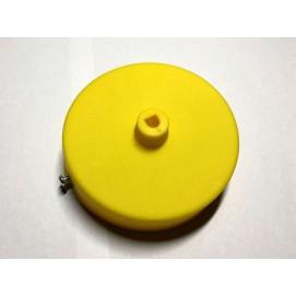 Потолочный крепеж AMP основание круг пластик желтый