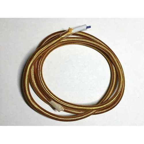 Провод текстильный AMP  2x0.75 золото
