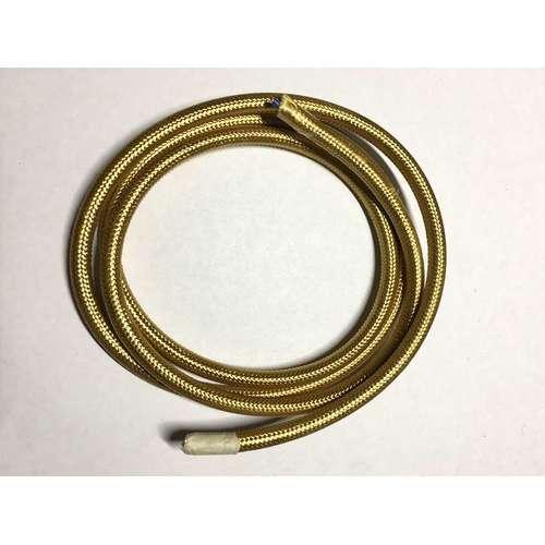 Провод текстильный AMP  2x0.75 песочно-золотой right gold
