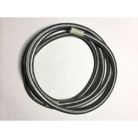 Провод текстильный AMP  2x0.75 серебро
