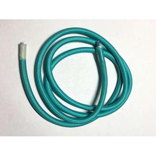 Провод текстильный AMP  2x0.75 бирюза sky blue