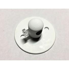 Потолочный крепеж провода белый
