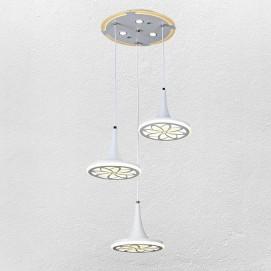Люстра 7631123-3 LED 40+40W белый Levada