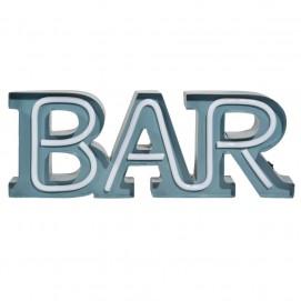 Настенный декор с подсветкой BAR голубой 47 x 17 cm 169084 Maisons 2017
