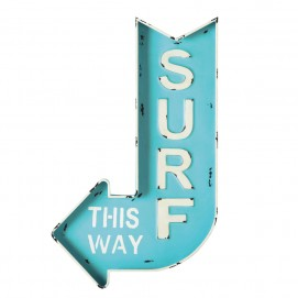 Настенный декор SURF 50 x 80cm голубой 150656 Maisons 2017