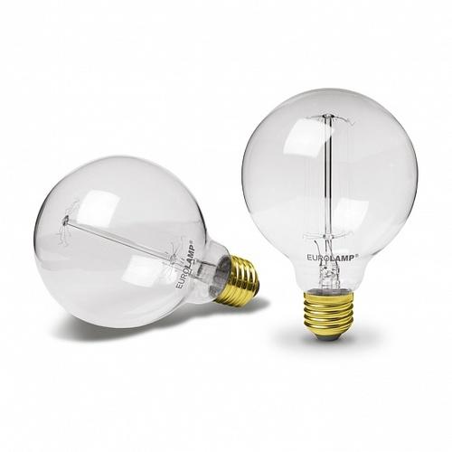 Лампочка ЛОН Шар ArtDeco G95 60W E27 2700K dimmable EUROLAMP