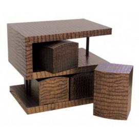 Комплект S-образный стол, 4 стула, медь 60см KA-C03 De torre