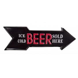 Настенный декор черная Beer Sold Here 55cm (Z37165) Invicta