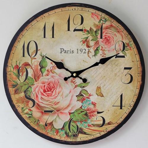 Часы Paris 1921 цветные 35 см Clock