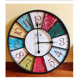 Часы настенные Лондон Ø 58 см Clock цветные