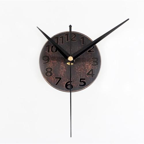 Часы Стрелки №4 коричневые Clock