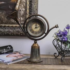 Часы настольные Винтажные №1 коричневые Clock