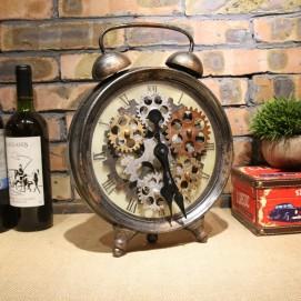 Часы настольные Шестеренки 35 см ржавчина Clock