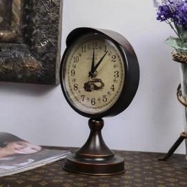 Часы настольные Ретро черные Clock