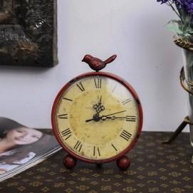 Часы настольные №3 красные Clock