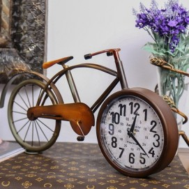 Часы настольные Винтажные №2 коричневые Clock