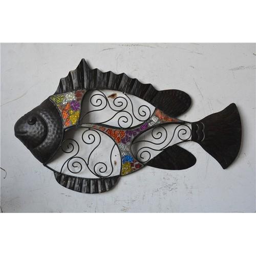 Панно черное Рыба 54х34 см Clok