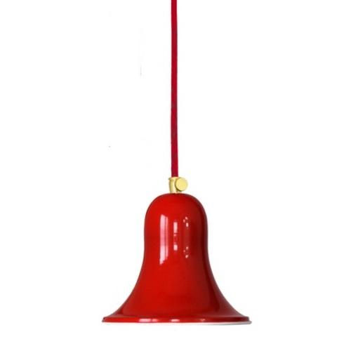Лампа подвесная Bell, арт. 3333 красная PikArt