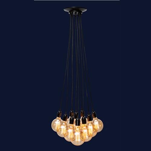 Люстра 7527020-8 BK черная на 8 лампочек Thexata