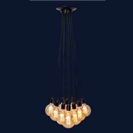 Люстра 7527020-9 BK черная на 9 лампочек Thexata