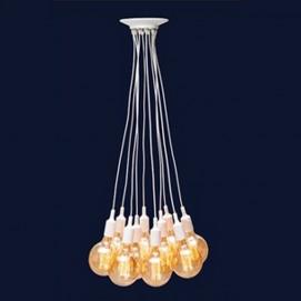 Люстра 7527020-8 WH белая на 8 лампочек Thexata