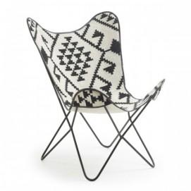 Кресло бабочка FLYNN CC0352J60 черно-белое Laforma 2017