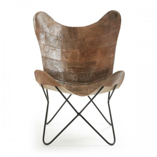 Кресло бабочка FLYNN CC0352P10 коричневое Laforma 2017