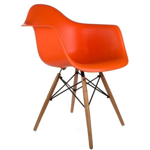 Кресло ТАУЭР ВУД оранжевое Mebelmodern ноги дерево