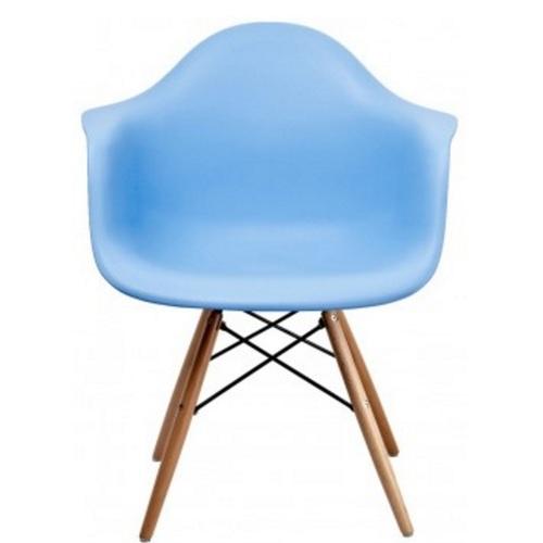 Кресло ТАУЭР ВУД голубое Mebelmodern ноги дерево