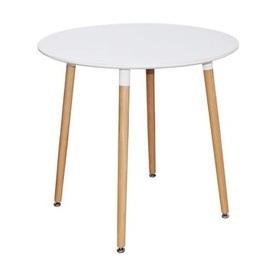 Стол обеденный 80 см DT-9017 круг белый Exouse
