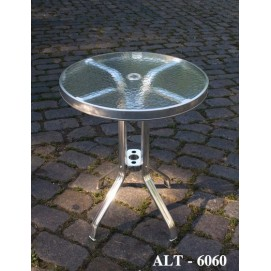 Стол обеденный уличный ALT - 6060 хром Onder БРАК