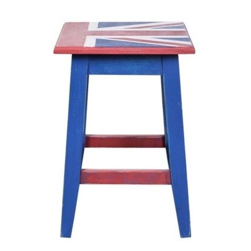 Табурет Union Jack синий SS003715 Woodville